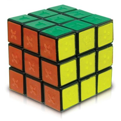 Rubiks Cube with Tactile Markings