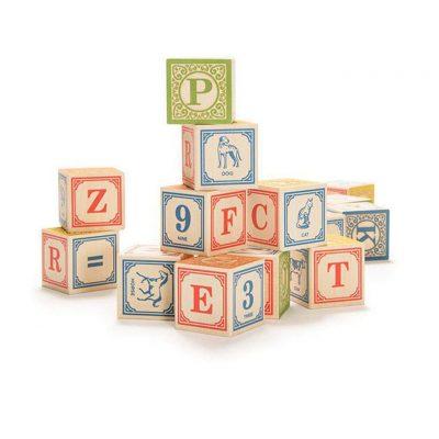 Uncle Goose Classic Alphabet Building Blocks